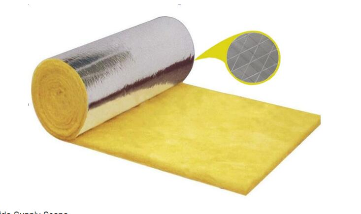 GLASS WOOL BLANKET WITH ALUMINUM FOIL