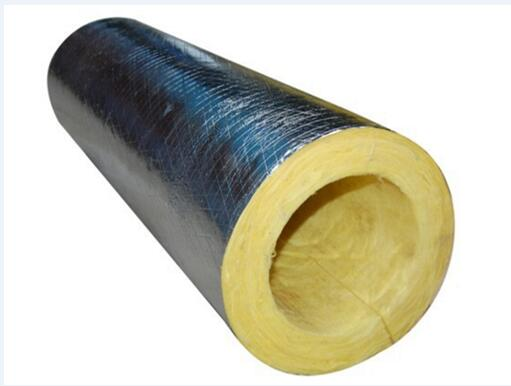 GLASS WOOL PIPE WITH ALUMINUM FOIL